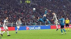Cristiano Ronaldo bicycle kick: Night Juventus Stadium rose to applaud Real Madrid forward World Football, Football Jerseys, Fifa, Real Madrid Cristiano Ronaldo, Juventus Stadium, Bicycle Kick, Chelsea, Ronaldo Juventus, Soccer Players