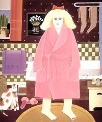 Bath-time Two Home Categories  Art of Beryl Cook  Art of Beryl Cook