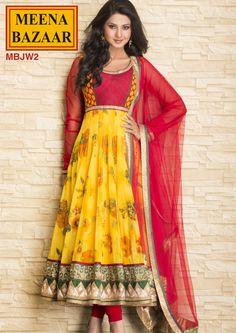 MBJW2 Anarkali Suit with Nett Duppata