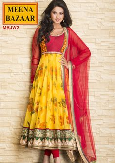 MBJW2 Anarkali Suit with Nett Duppata