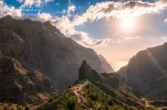 Sunset in Masca valley, Tenerife