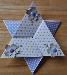 Triangle Star Card made from 12 x 12 card