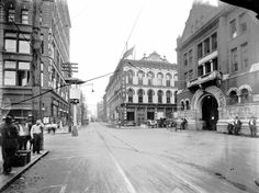Market Street and Union Avenue, Downtown, circa 1921.