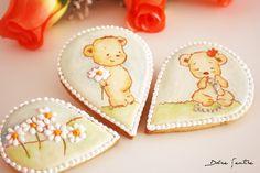 Galletas pintadas a mano y decoradas con brillos {Video Tutorial}