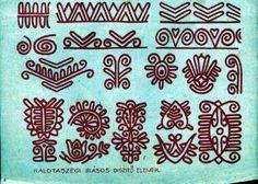 Kalotaszegi írásos díszítő-elemek