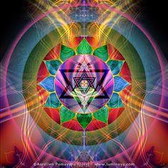 RAY OF LOVE - Tapestry, Banner, Wall Hanging, Original Spiritual Art, Psy Art, Visionary Art, Sacred Geometry, Vector Equilibrium