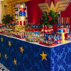 Check out all these amazing Wonder Woman Party ideas that will help you plan your next girl superhero birthday party! Wonder Woman Birthday, Wonder Woman Party, Birthday Woman, Superhero Birthday Party, Birthday Parties, 5th Birthday, Birthday Party Decorations, Party Themes, Party Ideas