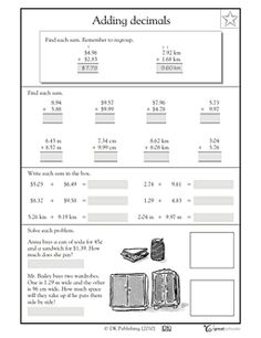 Worksheet Consumer Math Worksheets 1000 images about 4th grade tutoring on pinterest adding our 5 favorite prek math worksheets