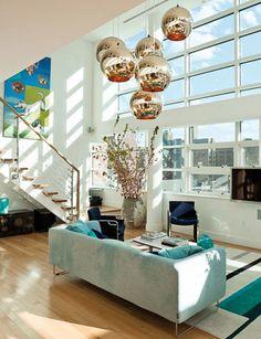 Awesome light fixture!  Contemporary design.