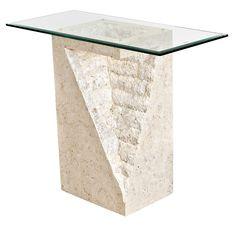 Mactan Stone Pedestal Table Athens   Modern Furniture And Lighting | Modern  Furniture And Lighting