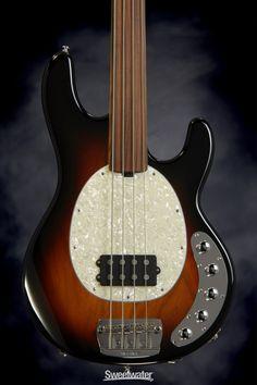 Music Man StingRay 4 H Piezo - Vintage Sunburst Unlined Fretless, Bass