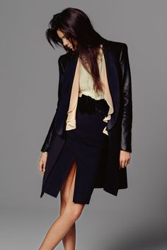 Miss Vogue #3: Kendall Jenner gallery - Vogue Australia    tuxedo coat office look