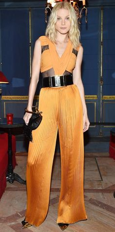Look of the Day - March 08, 2015 - Jessica Stam in Balmain from #InStyle