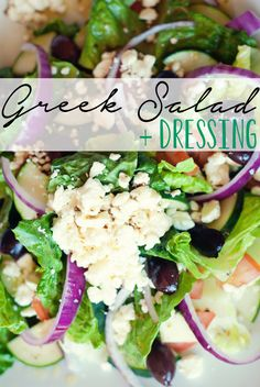Featuring the most amazingly authentic Greek Dressing around, this salad is full of flavor and sure to please!