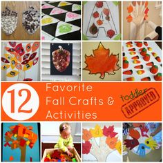 Toddler Approved!: 12 Favorite Fall Crafts and Activities
