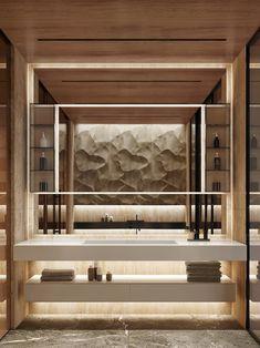 AB | ART PLACE on Behance Bathroom Interior, Modern Bathroom, Hotel Bathroom Design, Interior Architecture, Interior Design, Luxury Penthouse, Toilet Design, Staircase Design, Bathroom Inspiration