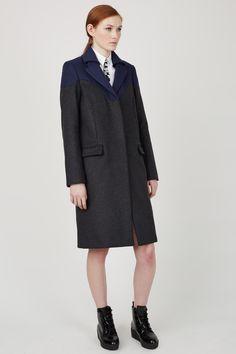 Kenzo // Wool & Cashmere Blend Coat