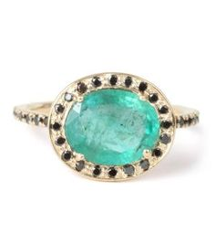 Catbird :: WHAT'S NEW: jewelry :: Delilah Ring, Emerald and Black Diamond