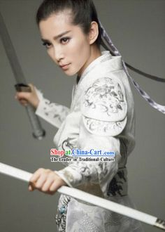 Chinese lady swordsman costume