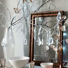 Crystal Drops on a Christmas Tree Decor Ideas....a Christmas use for my extra crystals
