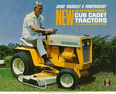 Nice original dealer sales brochure on the International Cub Cadet 102 & 122 Lawn & Garden. with 20 pages. International Tractors, International Harvester, Old Fonts, Park Rapids, New Tractor, Compact Tractors, Out To Lunch, Cub Cadet, Vintage Tractors