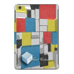 3D Piet Mondrian/Van Doesburg De Stijl iPad mini