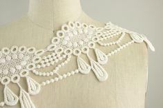 Venise Lace White Ivory Princess Drop Lace Trim / by CraftCabaret
