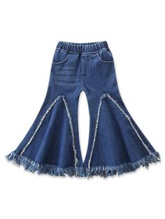 SHEIN offers Toddler Girls Raw Hem Flare Jeans & more to fit your fashionable needs. Girl Outfits, Cute Outfits, Fashion Outfits, Fashion Trends, Jeans Fashion, Stylish Outfits, Fashion Women, Fashion Ideas, Girl Bottoms