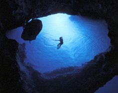 Croatia, Europe: island of Biševo , just off Vis, is known for the Blue Cave, which lights