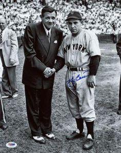 Yankees Yogi Berra Signed Authentic 11x14 Photo W/ Babe Ruth