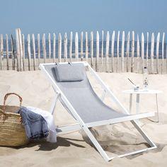 Klapstoel elverum staal petan met kussen balcony for Brommo chaise lounge