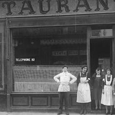 Photo ancien commerce toulouse bar bistrot café restaurant repro an. 1920