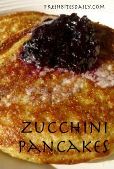 Zucchini Pancakes at FreshBitesDaily.com