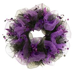Purple Fest Halloween Mesh Wreath