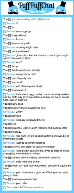 A high conversation on PuffPuffChat.com