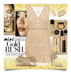 """Mini Gold"" by jax522 ❤ liked on Polyvore featuring Borghese, Nicole Miller, Nine West, Tod's, Kendra Scott, Swarovski, Ross-Simons, Bobbi Brown Cosmetics, Laura Mercier and Estée Lauder"
