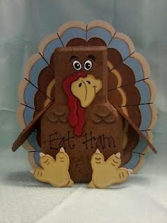 Thanksgiving Day idea - image Painted Bricks Crafts, Brick Crafts, Painted Pavers, Brick Projects, Stone Crafts, Painted Pots, Wooden Crafts, Thanksgiving Crafts, Fall Crafts