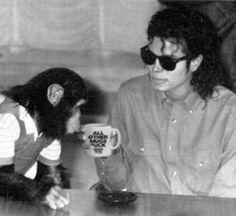Micheal Jackson + Bubbles