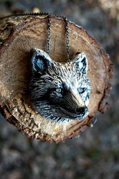 Woodland Fantasy Whimsical Silver Fox Necklace www.seaofbeesjewelry.com #etsy #jewelry #handmade #lux #luxfrontiercollection #woodland #woodlandfantasycollection  #fox #deer #bear #bird #moose #antler #ring #brooch #necklace #geometric #triangle #handmadejewelry #native