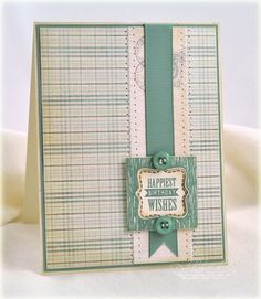 Happiest Birthday Wishes Card by Debbie Olson for Papertrey Ink (July 2012)
