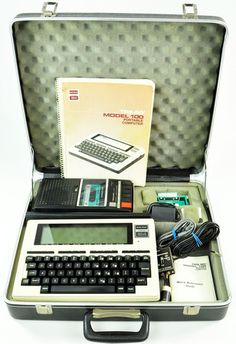 Radio Shack TRS-80 Model 100 Portable Computer. I think Jacks old one is in the storage room!