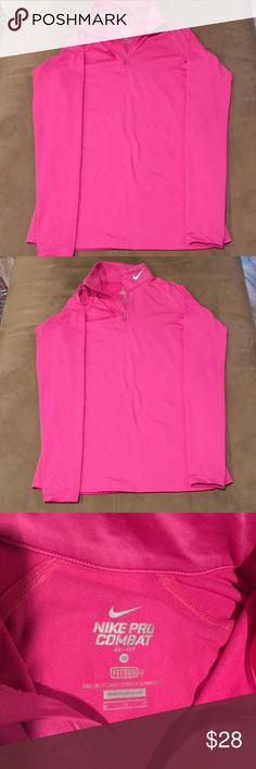 Nike pro combat dri-fit women's running  medium M Nike pro combat dri-fit women's running  medium M therma-fit. I accept reasonable offers and ship quickly. Thank you for looking. Nike Tops