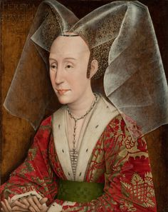 Attributed to Rogier van der Weyden (1399 or 1400 -1464) — Portrait of Isabella of Portugal, Duchess of Burgundy, c. 1450  : he J. Paul Getty Museum.  Los Angeles, California.  USA  (1269×1600)
