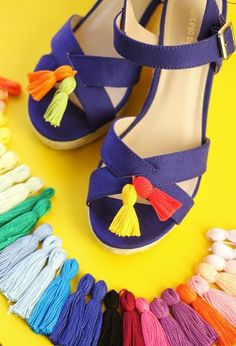 Add a rainbow of tassels to your summer style