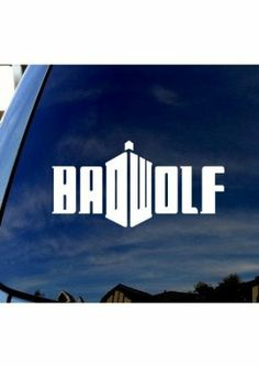 Badwolf Choose Your Color Bad Wolf Doctor Who Precision Cut Vinyl Decal