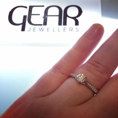 Engagement Ring Dublin. 18ct White Gold 0.65ct Fcolour VS1 Pavé set shoulders. Was:€2999 Now:€1999 available in store at Gear Jewellers Parnell Street Dublin Ireland #diamond #engagementring #dublin