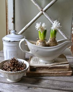 Faded Charm: ~Winter Whites~rustic home decor