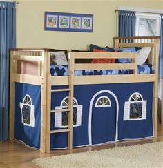 Low loft bed - could be modified for boys or girls!
