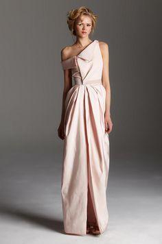 Pink #wedding dress from Rafael Cennamo
