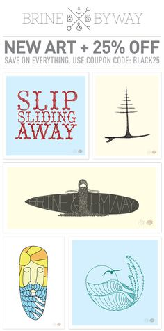 New surf art from Matthew Allen and Brine & Byway  http://www.etsy.com/shop/BrineAndByway